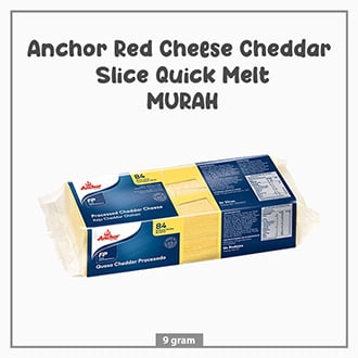 Anchor Red Cheese Cheddar Slice Quick Melt