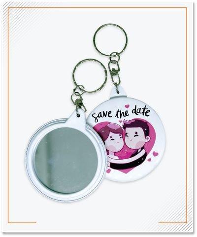 Keychain Pin Cermin