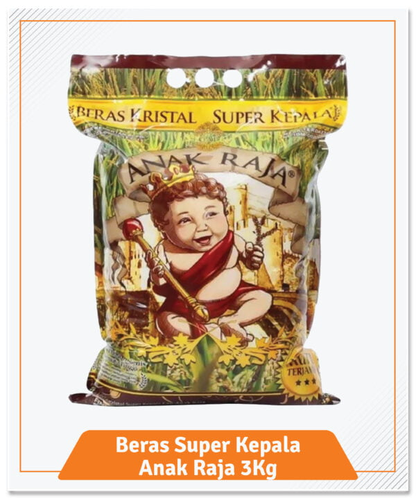 2. Beras Anak Raja Super Kepala Premium 3Kg-01